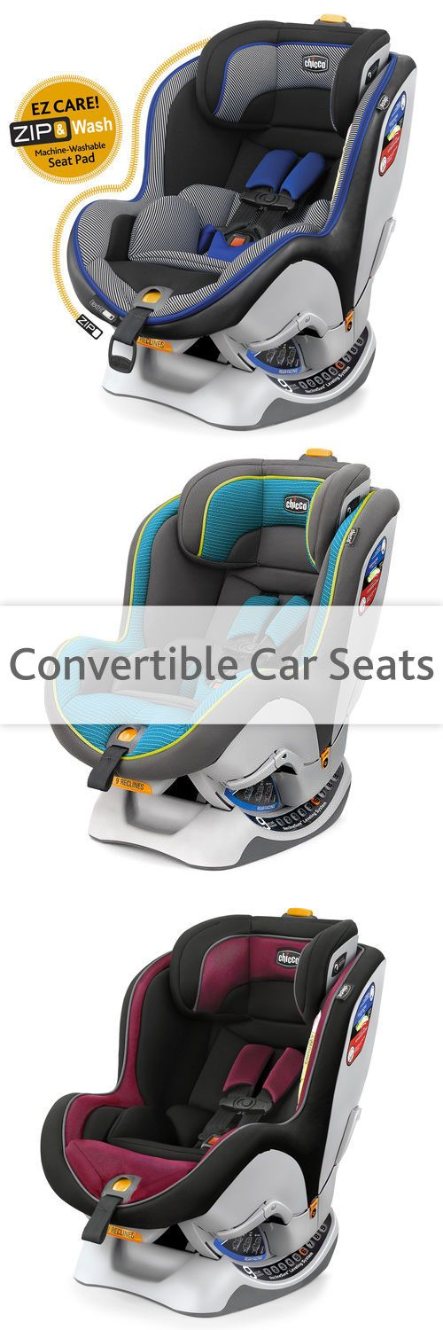 Chicco's convertible car seats grow with your child from infancy to preschool age. Convertible car seats switch from rear-facing to front-facing as your child grows. Plus Chicco's convertible car seats are so easy to install!