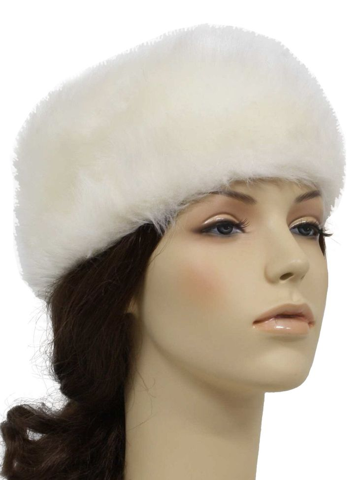 -Care Label- Womens white acrylic and rayon fake fur elastic banded pillbox style hat with elastic trim for ease in fit.  sc 1 st  Pinterest & 415 best FUR images on Pinterest | Beautiful bags Blankets and ... Aboutintivar.Com