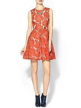 C luce red dress holiday