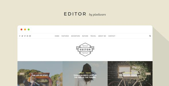 Editor - A WordPress Theme for Bloggers • Download theme ➝…