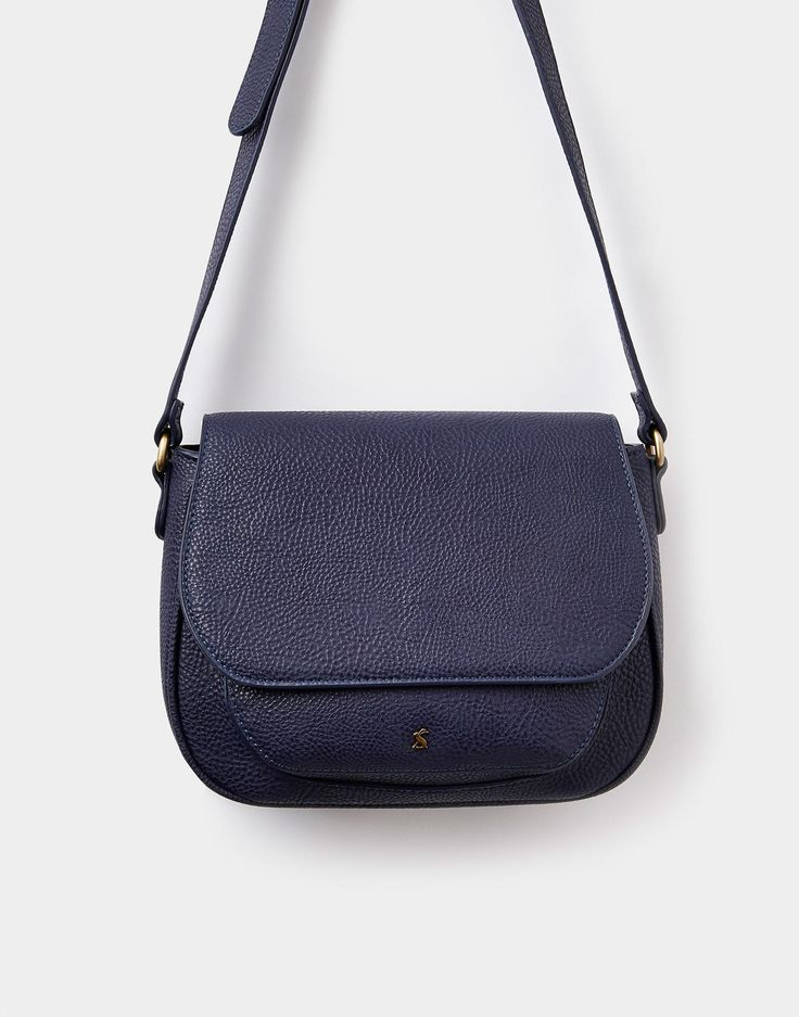 Darby bright French Navy Saddle Purse , Size One Size | Joules US