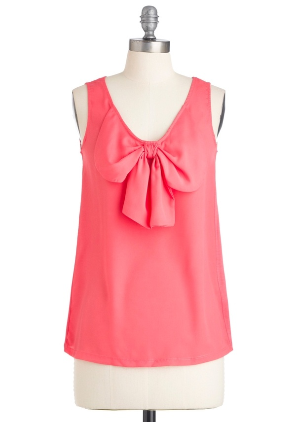 Love the color and the bow!!!      (via imgTumble): Style, Color, Clothes, Modcloth, Bow Tops, Bows, Mood Top, Pink Top