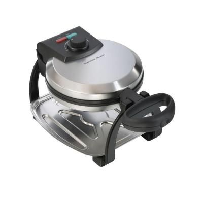 Hamilton Beach Waffle Baker in Chrome-26010 - The Home Depot