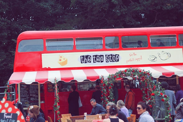Tea bus Festival Number 6 Portmeirion Wales by I Want You To Know UK Fashion Blog, via Flickr