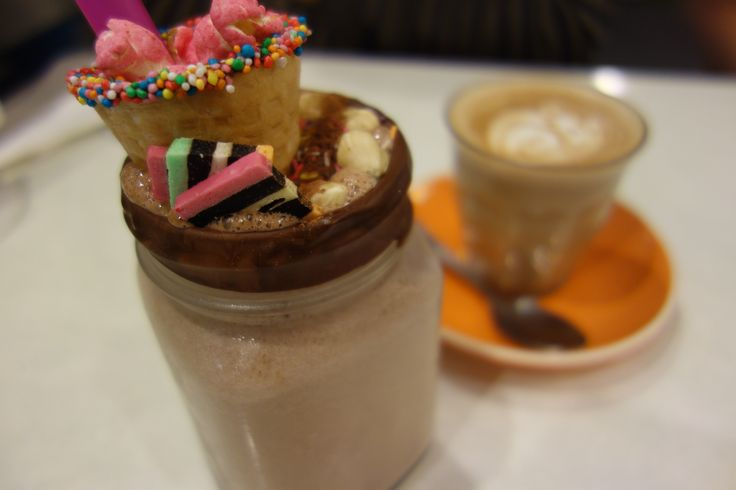 The infamous Nutella milkshake from The Vogue Cafe!