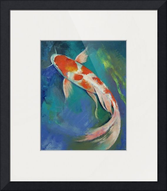 10 best koi visse images on pinterest fish paintings for Koi canvas print
