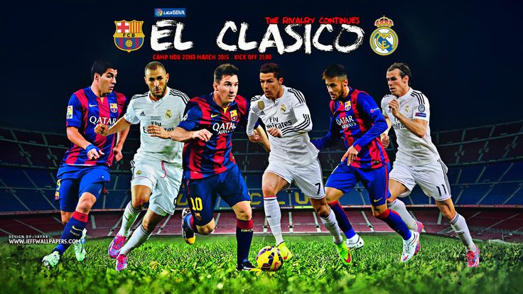 FC Barcelona vs Real Madrid EL CLASICO 2015 by jafarjeef.deviantart.com on @DeviantArt