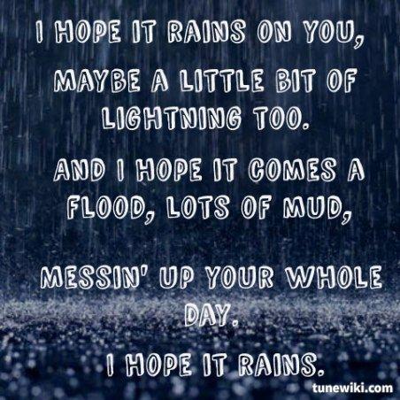 I Hope It Rains ~ Jana Kramer