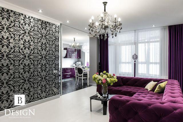 #design #interior #livingroom #room #black #grey #b_design #brodskaya #violet #decor #home #homedecor #lamp #интерьер #дизайн #фиолетовый #артдеко #бродская #гостиная #дизайнер #люстра #комната #уютныйдом