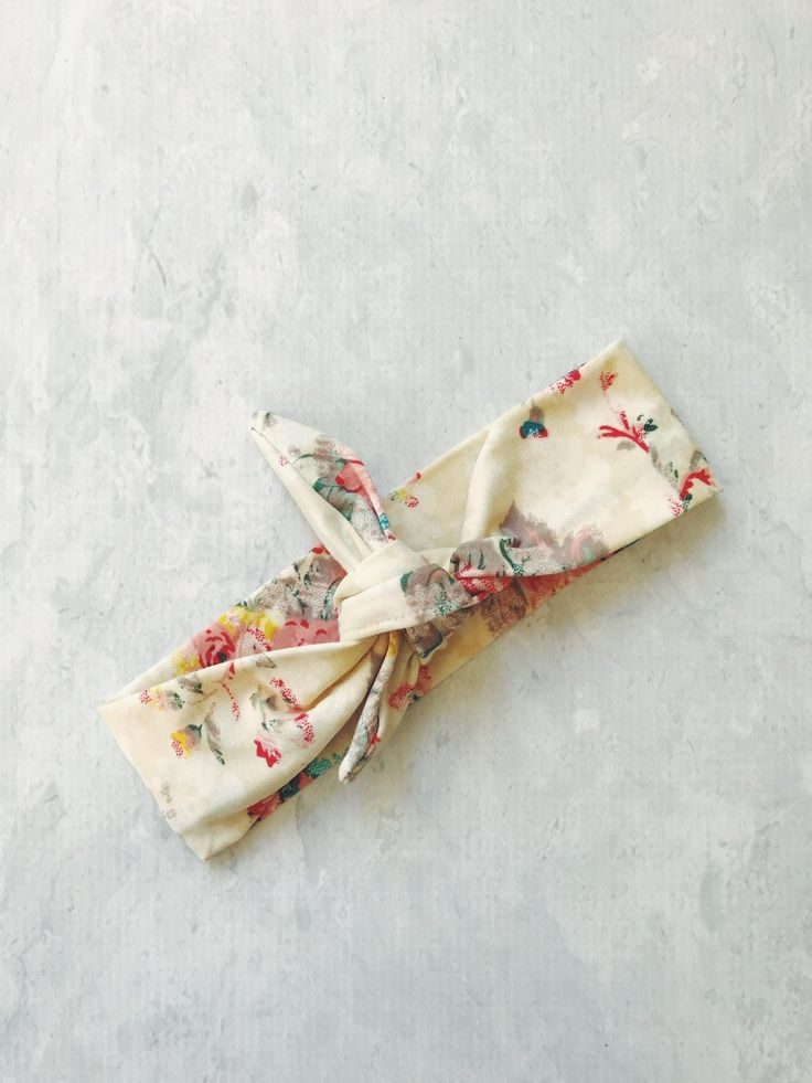 FLORAL HEADBAND WITH KNOT - SUPER SOFT    #MamaFashionMe - Aussie Online Store with Beautiful Accessories for Girls + Some for Boys
