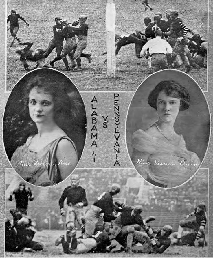 1922 Alabama vs Pennsylvania. Pages from the University's yearbook, Corolla, touts Alabama's 1922 win over the heavily favored University of Pennsylvania. The 9 - 7 road victory put Bama in the national spotlight for the first time.- Excerpt: The Complete History of Alabama Crimson Tide Football by LCP / Skybox Press #Alabama #RollTide #BuiltByBama #Bama #BamaNation #CrimsonTide #RTR #Tide #RammerJammer