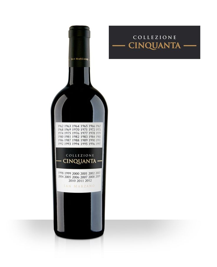 Collezione Cinquanta. Ruby red colour with purple reflections; intense and complex bouquet with fruity notes of prune and red jam and spicy scent of vanilla and licorice. Intense on the palate, full-bodied and soft with a long aftertaste.Best served with Red meat, game, savoury firs courses. Meditation wine.