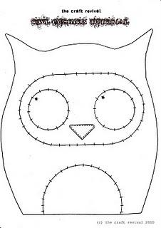 Owl Cushion Pattern