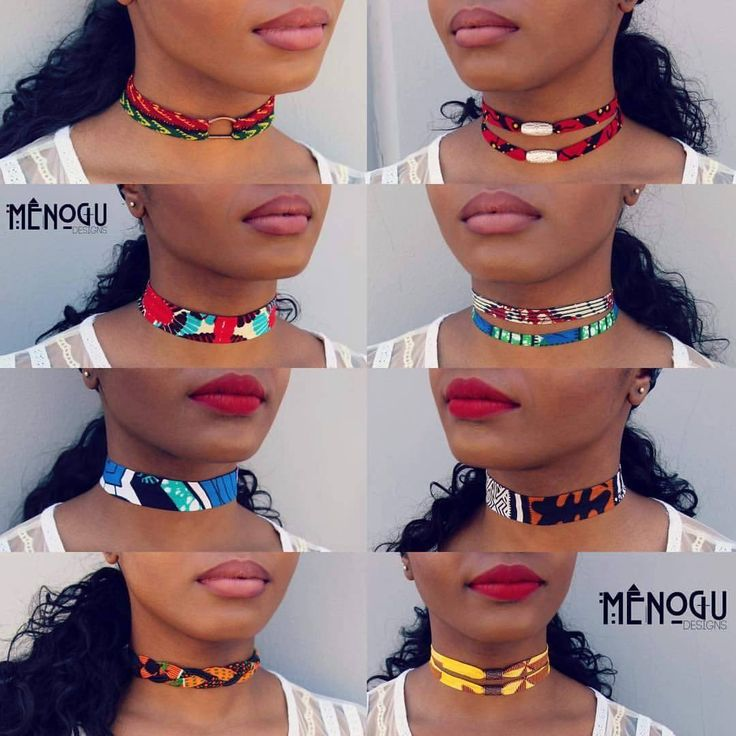 I want them all!!! ~African Prints, African fashion styles, african choker necklaces