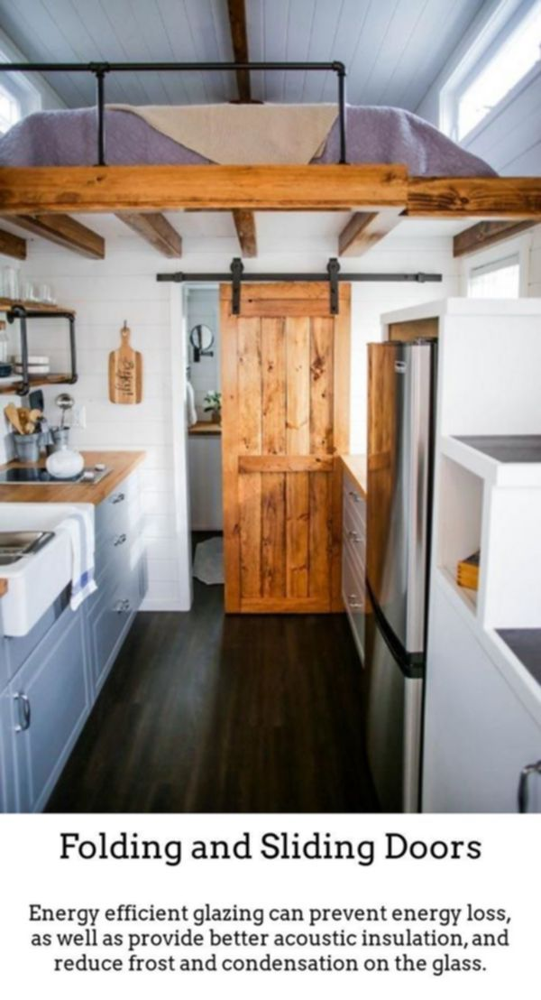 Sliding Doors Produce Attractive Brighter Spaces By Using Thermally Insulated Sliding And Fo Modern Tiny House Tiny House Interior Design Tiny House Bathroom