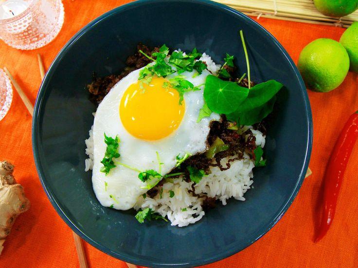 Snabblagad yakiniku med ris