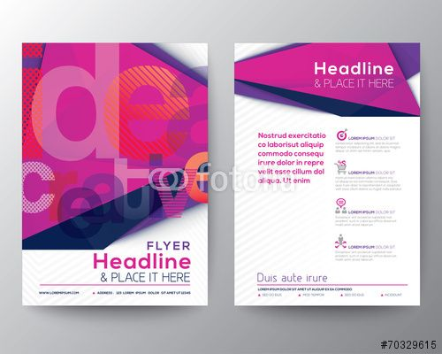 Wektor: Abstract Triangle Brochure Flyer design template layout
