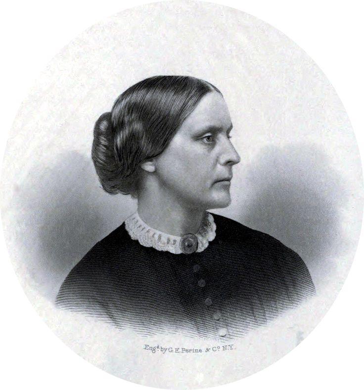 SUSAN  B.  ANTHONY  (1820 – 1906) Líder del movimiento estadounidense de los derechos civiles. Jugó un importante papel en la lucha por los Derechos de la Mujer en el Siglo XIX para garantizar el Derecho de Voto en los Estados Unidos. Investigó las injusticias que se cometían con la mujer obrera y se interesó activamente en la lucha por la abolición de la esclavitud. Luchó para que las universidades aceptaran a las mujeres como alumnas. En 1920 se concedió a las mujeres el derecho de votar.