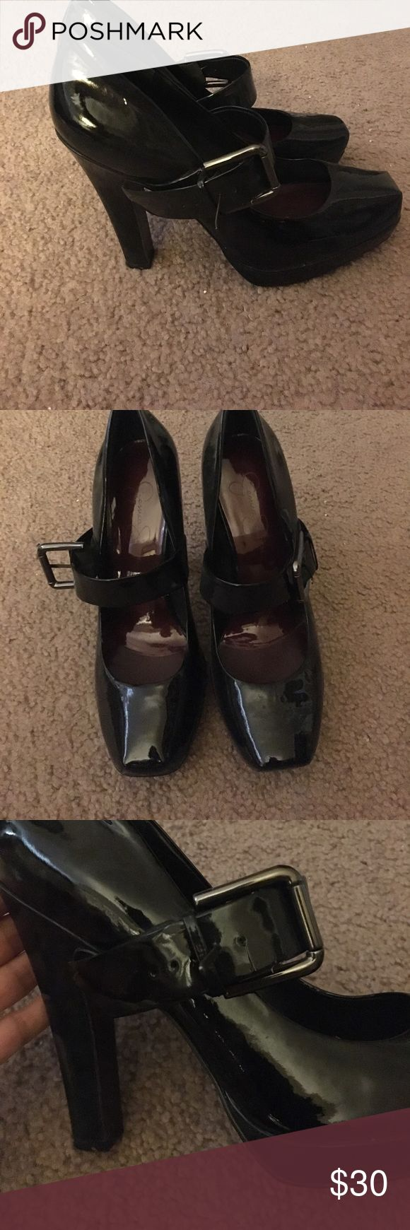Jessica's Simpson high heels! Size 8' I've wore these a few times for only a couple of hours! I great condition! My feet has shrunk. These beautiful heels no long fit me! Shoot me an offer if you don't like what I put a price on. Jessica Simpson Shoes Heels
