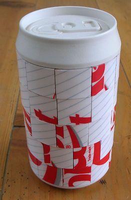 Rare Coca Cola Diet Coke Can Puzzle Uniquely Completed