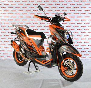 Modifikasi Yamaha X-ride Orange-Black