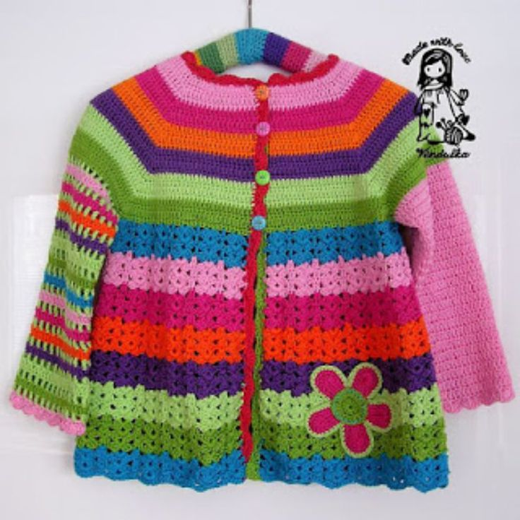 Crochet Girls Coat Free Pattern