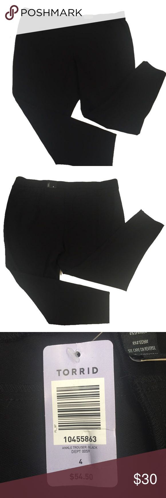 Torrid Dressy Ankle Pants This is a great pair of black ankle pants from torrid! New with tags, never worn. Undamaged. Smoke and pet free home. torrid Pants Ankle & Cropped