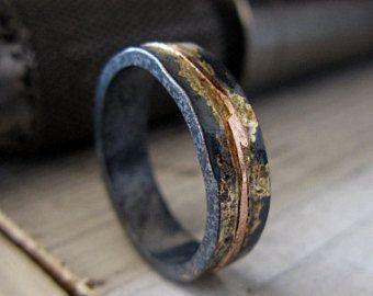 Man Wedding Band Man Wedding Ring Mens by HotRoxCustomJewelry