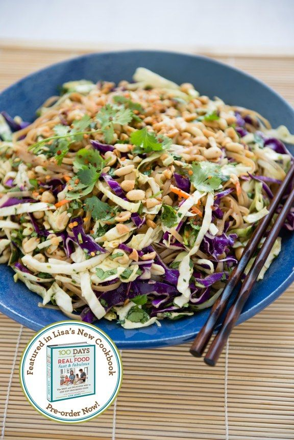 100 days of real food Chinese noodle salad