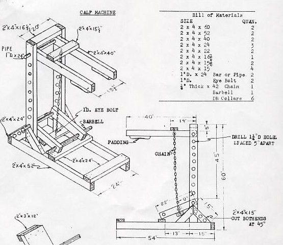 25 best ideas about calf machine on pinterest leg press for Gym blueprints