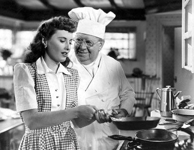 Christmas in Connecticut. Barbara Stanwyck's character in the 1945 farce Christmas in Connecticut is a columnist known for her dispatches on her family, her Connecticut farm, and—most notably—her cooking.
