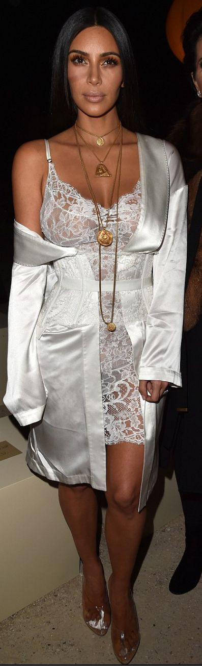 Kim Kardashian Style - Is it pendant fashion jewelry and lingerie? Will you be caught wearing this new fashion trend?