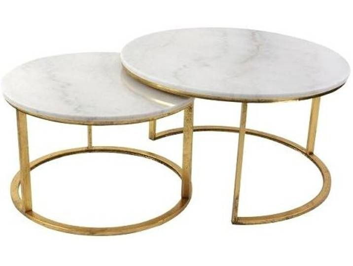 Couchtisch 2er Set Marmorplatte Gestell Metall Gold In 2020 Table Home Decor Decor