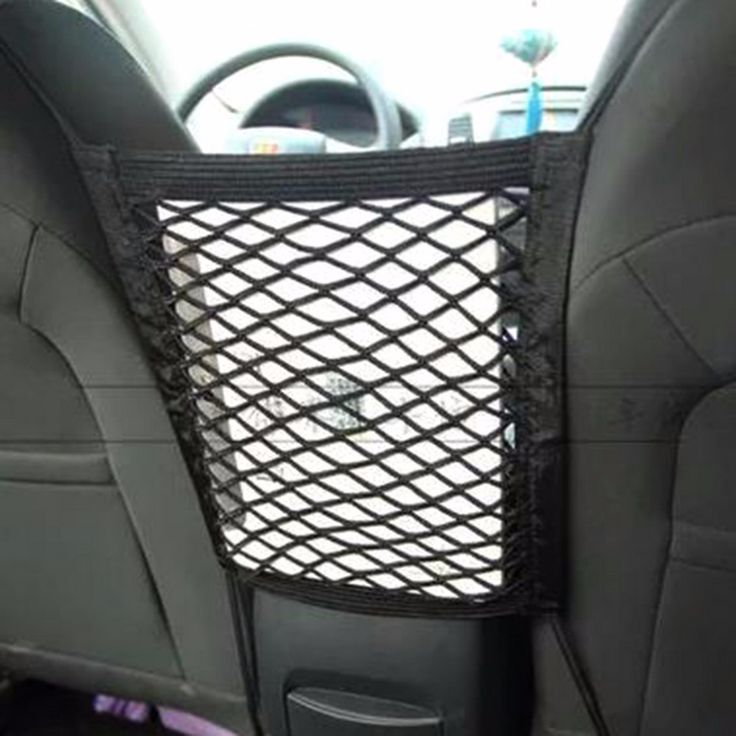 28x25cm Universal Car Seat Back Storage Mesh Net Bag Luggage Holder Pocket Sticker Trunk Organizer Strong Magic Tape Accessories //Price: $9.95 & FREE Shipping //     #android