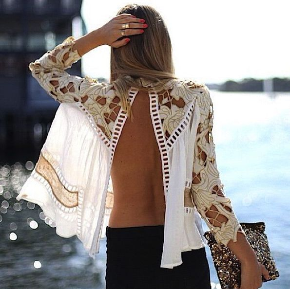 open blouse