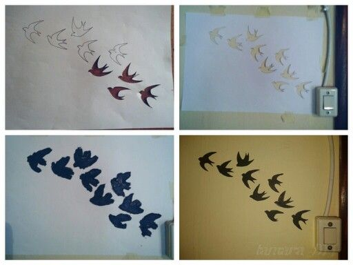 #decoration#DIY#wall#paint#room#swallow