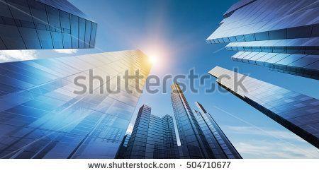 Modern city downtown. 3D rendering