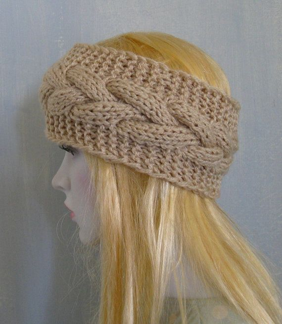Cabled Headbands Earwarmers Cream Fall Winter Accessories
