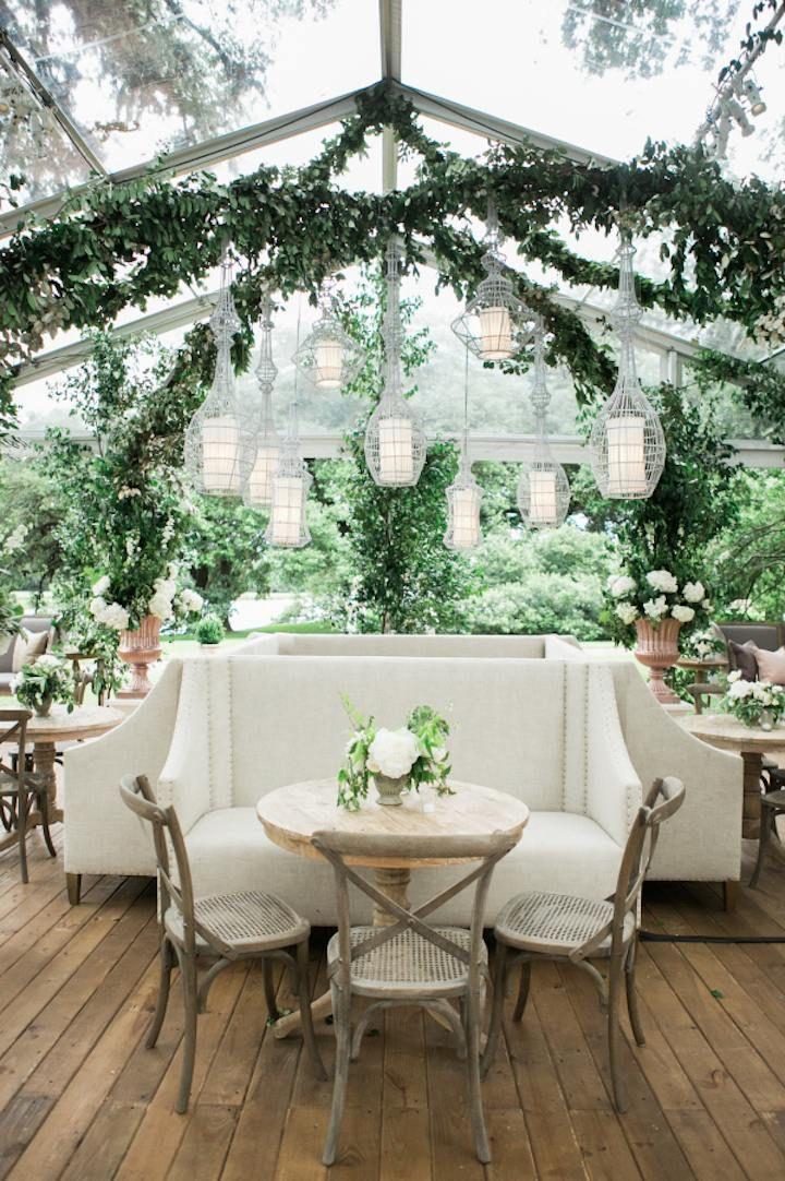 Indoor garden wedding reception inspiration gardenwedding reception