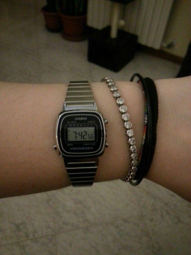 orologio casio silver