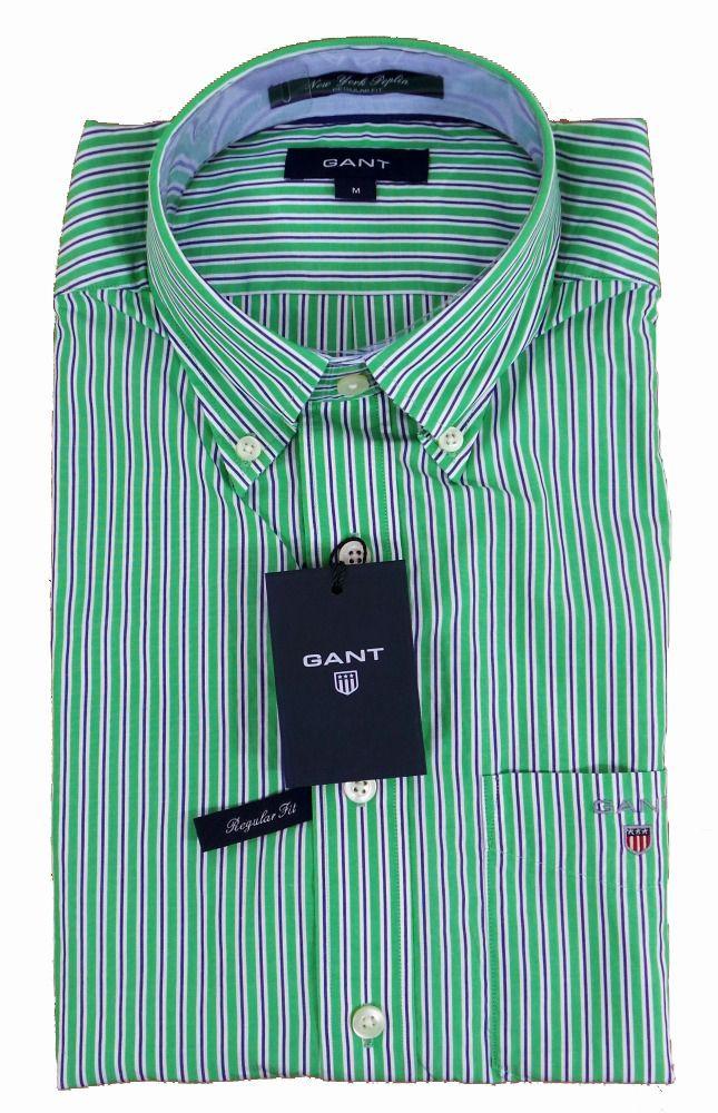 Gant New York Poplin Stripe Shirt Pomona Green - £85 with FREE UK Delivery #Gant #Shirts #Mens #Fashion
