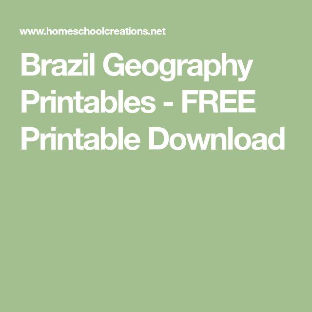 Brazil Geography Printables - FREE Printable Download