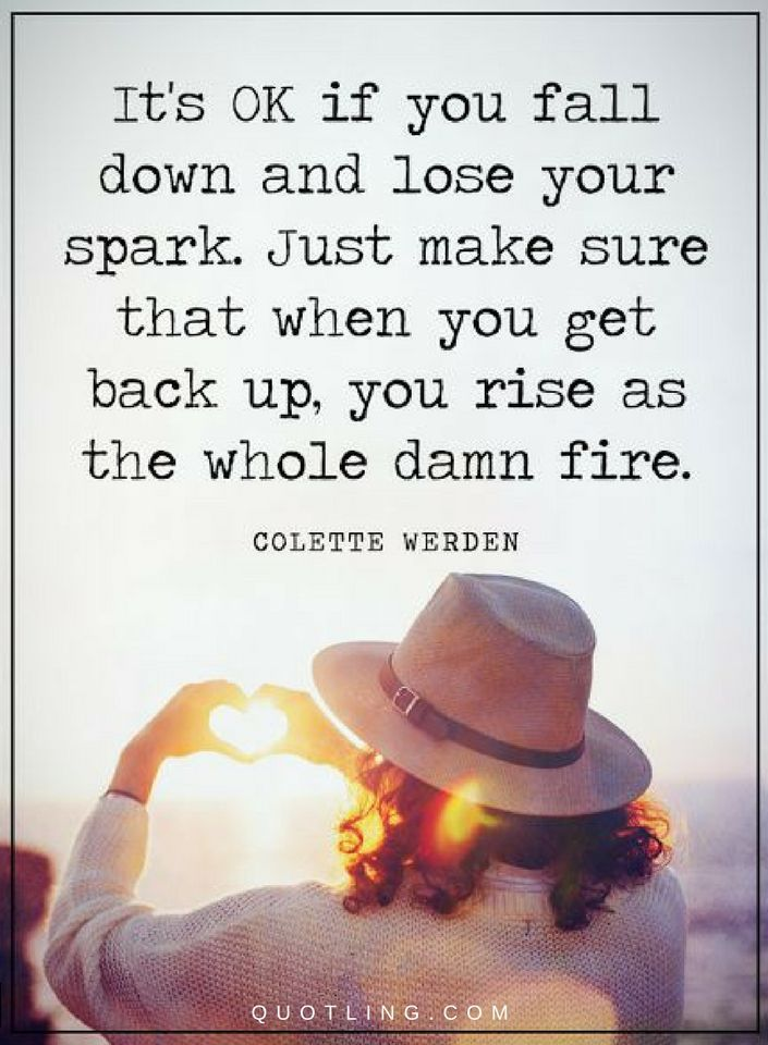 If You Fall Get Back Up : Quotes
