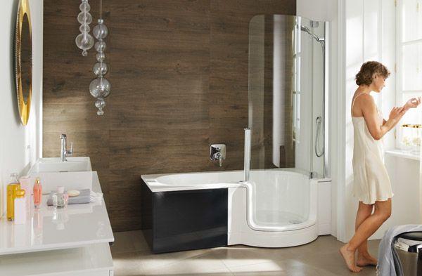 Duschen oder Baden? Die TWINLINE ermöglicht beides - sie ist Wanne und Dusche zugleich! Perfekte Kleinbadlösung mit bequemem Einstieg und XXL Duschbereich...