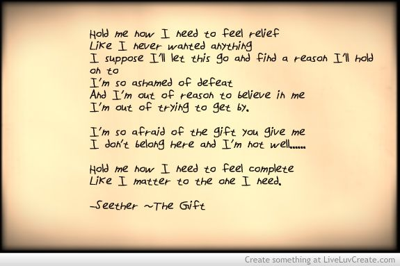 Seether~ The Gift