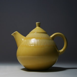 Yellow Rörstrand Teddy teapot.