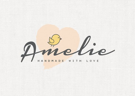 Customized Pre-Logo Design, Personalized Baby Logo, Baby Chick Custom Logo, Boutique and Accessories Logo (15-LOGO)
