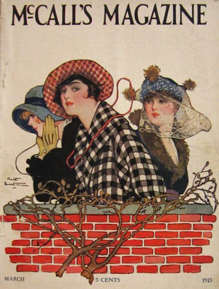 McCall's Magazine (March 1915)  Cover Illustration by Ruth Eastman