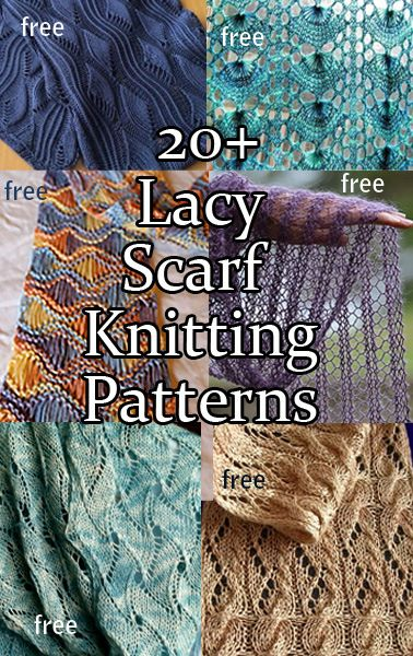 Lacy Scarf Knitting Patterns with many free patterns at intheloopknitting.com