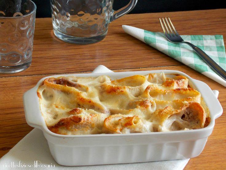 Conchiglioni con radicchio e gorgonzola